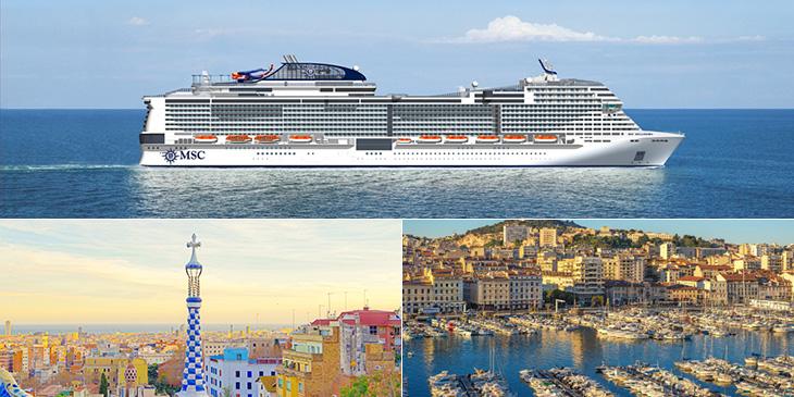 MSCベリッシマでいく地中海クルーズ5泊8日