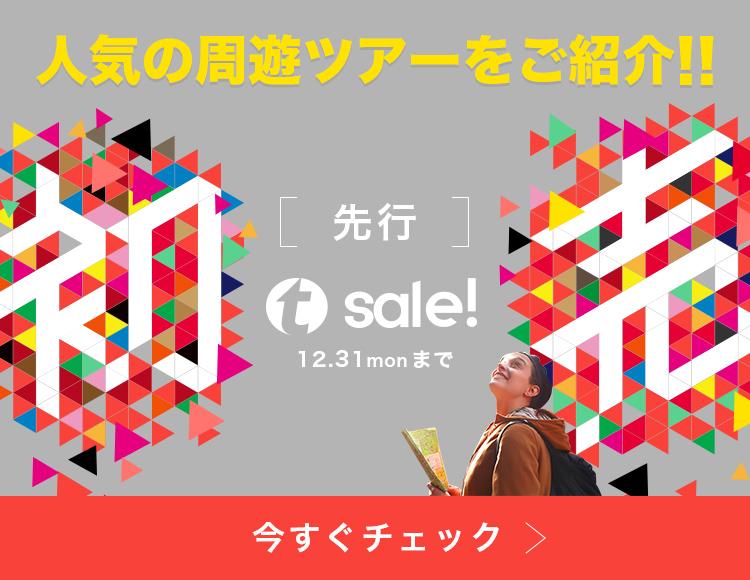先行・初売りSALE開催中!人気の周遊ツアーをご紹介!