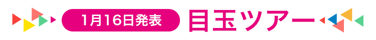 1月16日発表 目玉ツアー