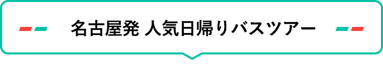 名古屋発 人気日帰りバスツアー