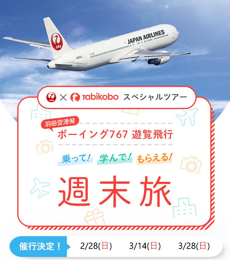 JAL×旅工房スペシャルツアー 羽田空港発 ボーイング767 遊覧飛行