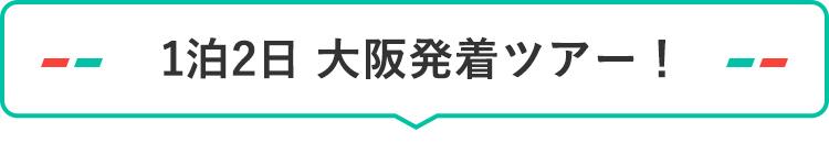 1泊2日 大阪発着ツアー!